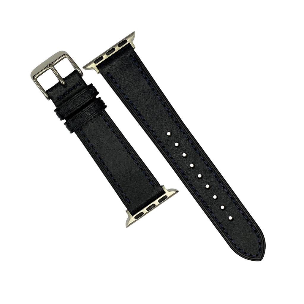 Emery Signature Pueblo Leather Strap in Navy (38 & 40mm)