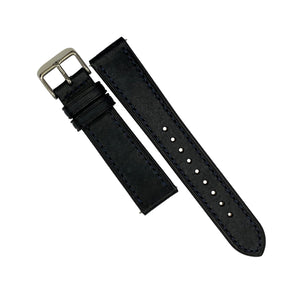Emery Signature Pueblo Leather Strap in Navy (22mm)