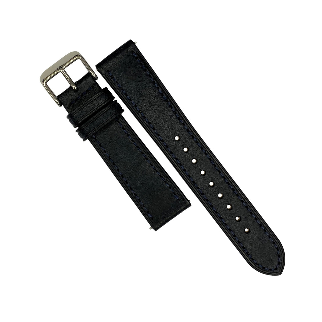 Emery Signature Pueblo Leather Strap in Navy (20mm)