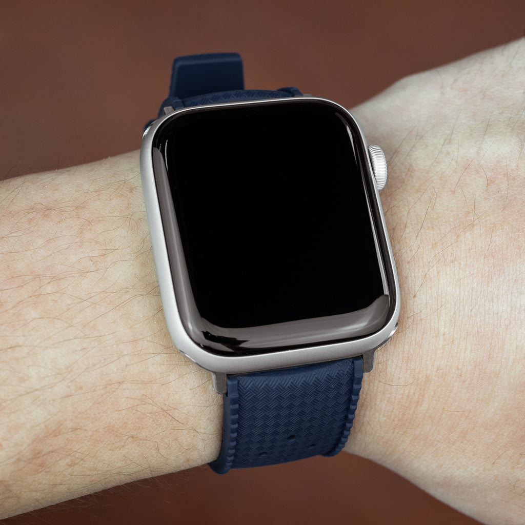 Apple Watch Tropic FKM Rubber Strap in Navy (42 & 44mm)