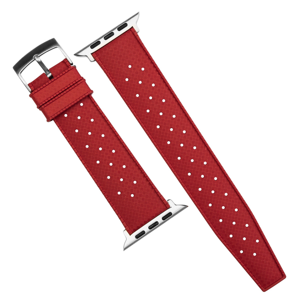 Apple Watch Tropic FKM Rubber Strap in Red (42 & 44mm)