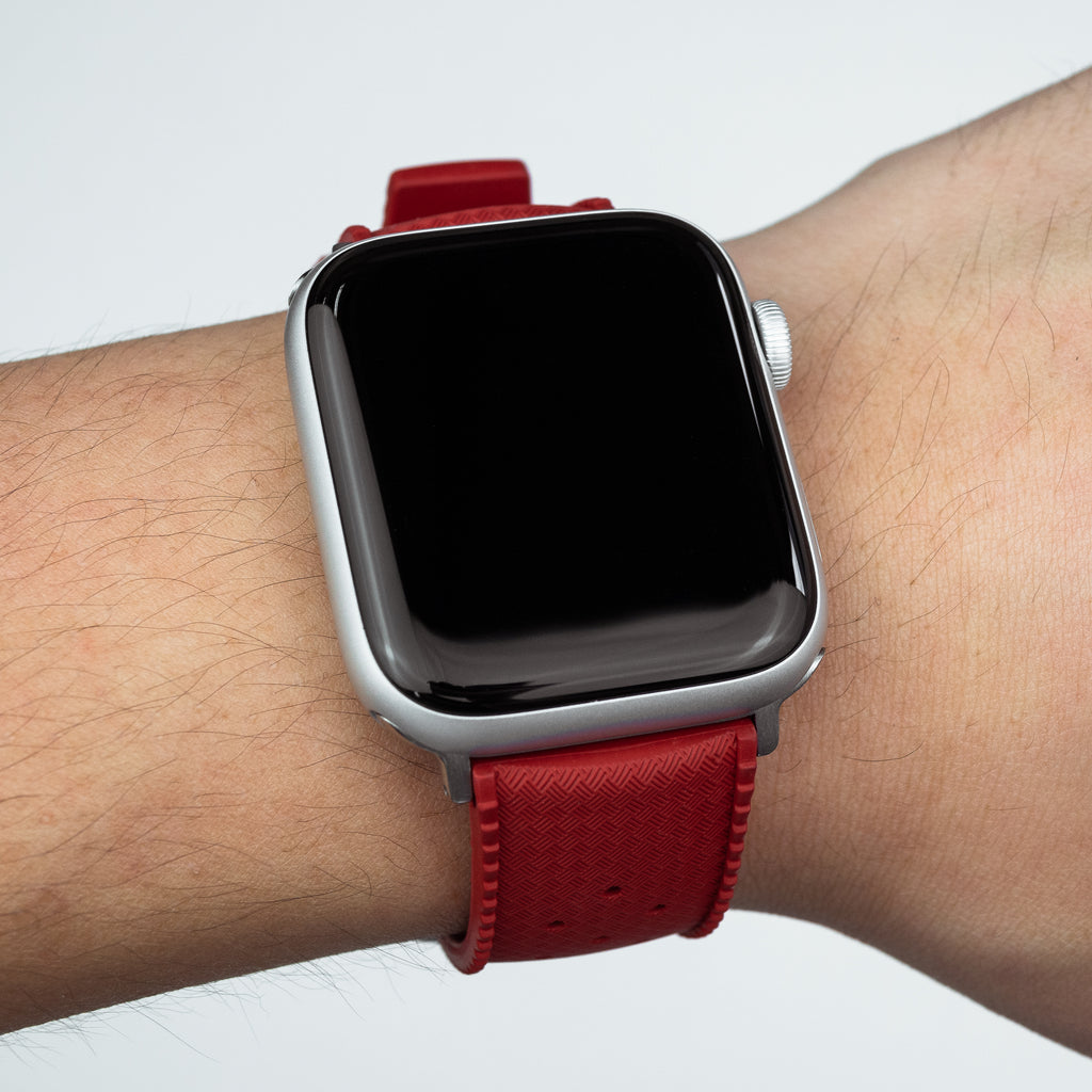 Apple Watch Tropic FKM Rubber Strap in Red (38 & 40mm)