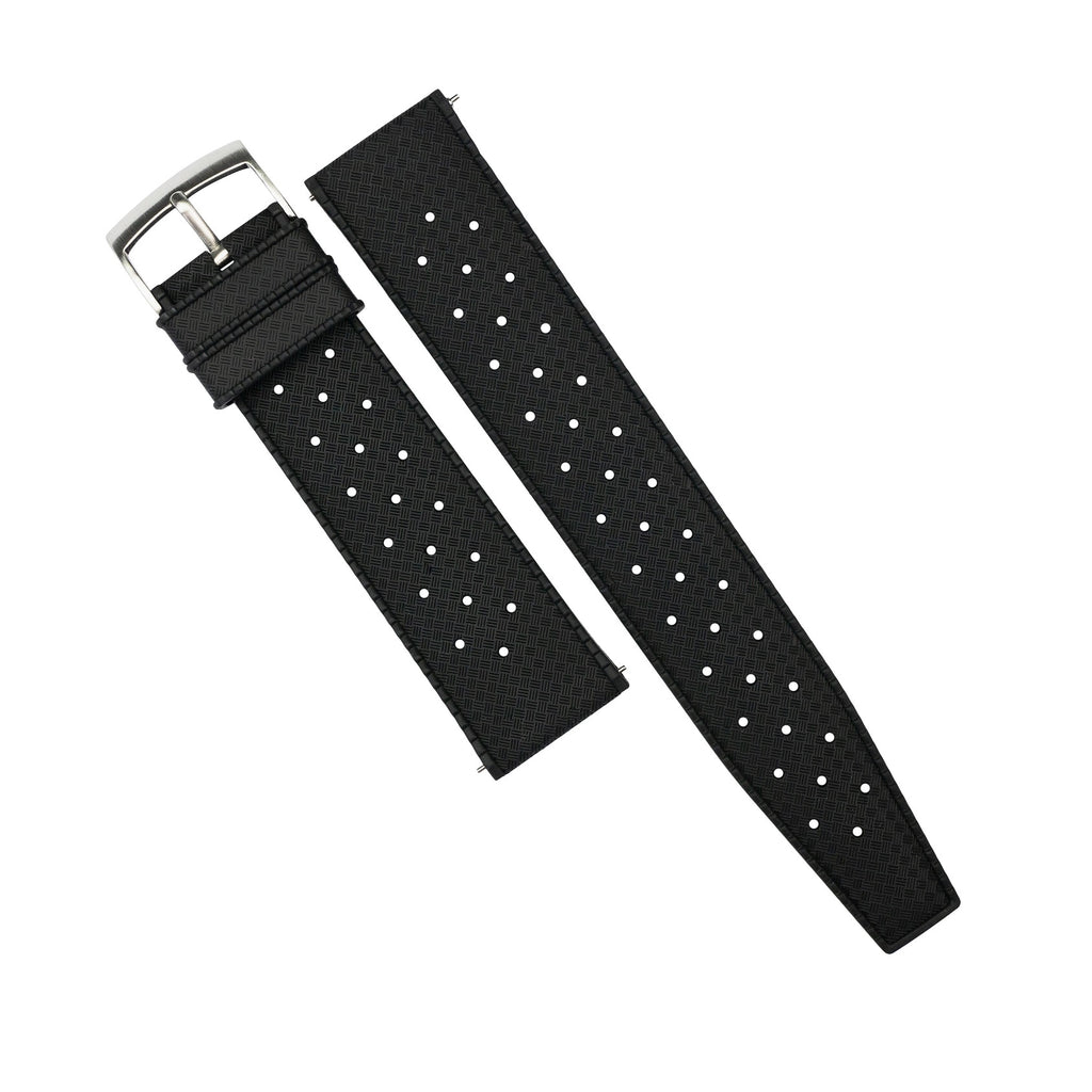 Tropic FKM Rubber Strap in Black (20mm)