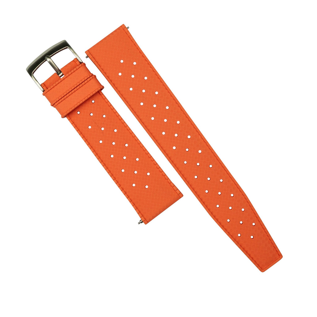 Tropic FKM Rubber Strap in Orange (20mm)