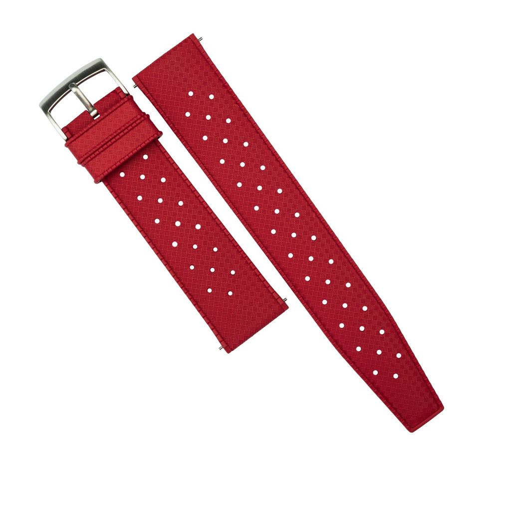 Tropic FKM Rubber Strap in Red (20mm)
