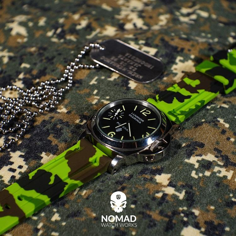 V3 Silicone Strap in Green Camo (22mm)