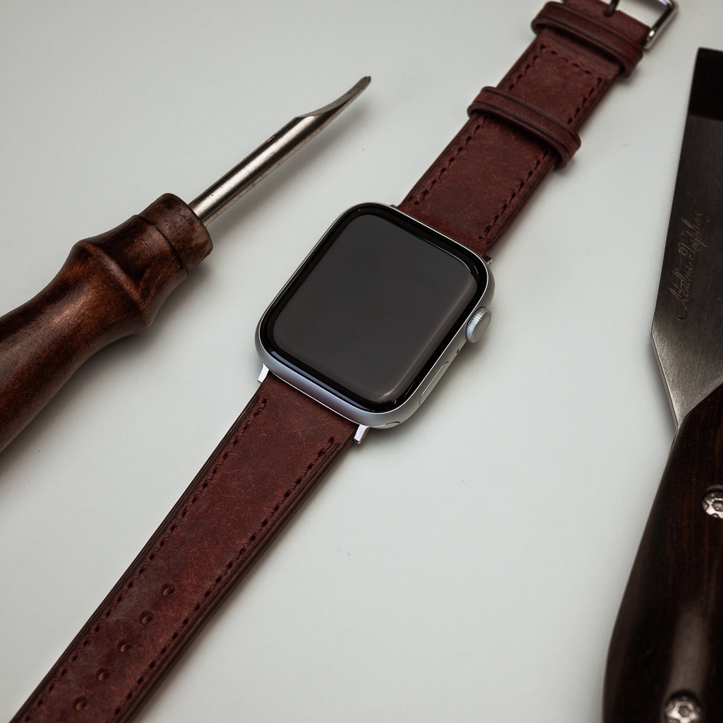 Emery Signature Pueblo Leather Strap in Bordeaux (42 & 44mm)