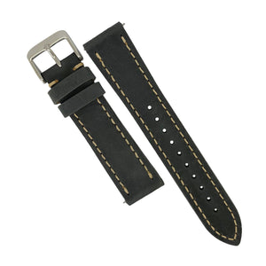 Quick Release Modern Leather Watch Strap in Grey (20mm)
