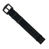 Seat Belt Nato Strap in Black with Black Buckle (22mm)