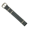 Seat Belt Nato Strap in Grey with Brushed Silver Buckle (22mm)