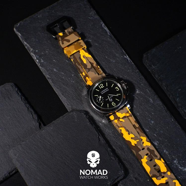 V3 Silicone Strap in Yellow Camo (24mm)