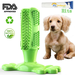 Pet Dog Toothbrush Rubber Teeth Cleaning Dot Massage Toothpaste
