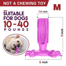 Load image into Gallery viewer, Pet Dog Toothbrush Rubber Teeth Cleaning Dot Massage Toothpaste