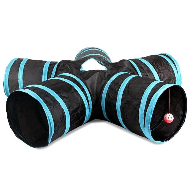 Hot 2/3/4/5 Holes 14 Colors Foldable Pet Cat Tunnel
