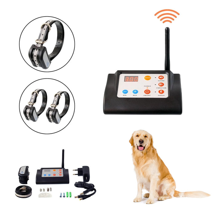 2-in-1 electronic wireless fence dog trainer - remote training