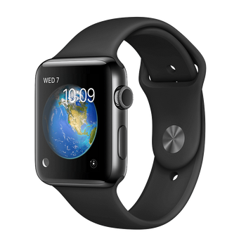 Apple Watch Series 2 Stainless 38mm Black Pristine - WiFi