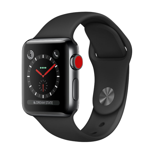 Apple Watch Series 3 Stainless 42mm Black Very Good - WiFi
