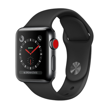 Apple Watch Series 3 Stainless 38mm Black Good - Celullar Unlocked