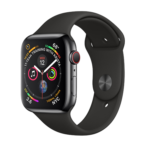 Apple Watch Series 4 Stainless 44mm Black Very Good - WiFi