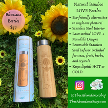 Load image into Gallery viewer, Natural Bamboo LOVE Bottle