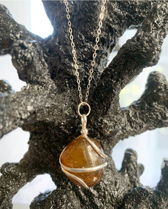 Spiral Crystal Necklaces