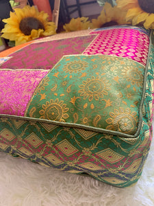 Square Patchwork Meditation Floor Pillow