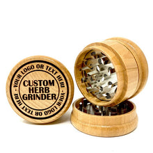 Load image into Gallery viewer, GRINDER - Custom Design, Your Logo - Herb & Tobacco Grinder