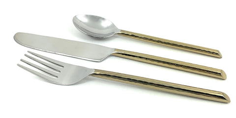 Geega Turtles Golden Silverware Flatware Set of 3