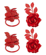 Load image into Gallery viewer, Red Rose Napkin Rings - geega-home-decor