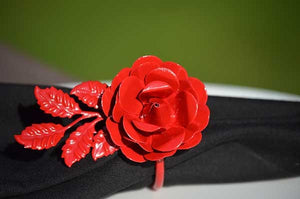 Red Rose Napkin Rings - geega-home-decor