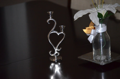 Heart Silver Candle Holder - geega-home-decor