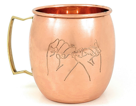 Copper Beer Mug | Set of 2