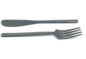 Black Dinner Fork & Knife set
