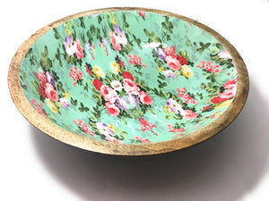 Green Printed Fruit Bowl - geega-home-decor