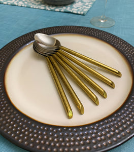 Golden Dinner Spoon