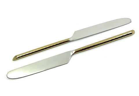 Geega Turtles Golden Dinner Knife Set of 2