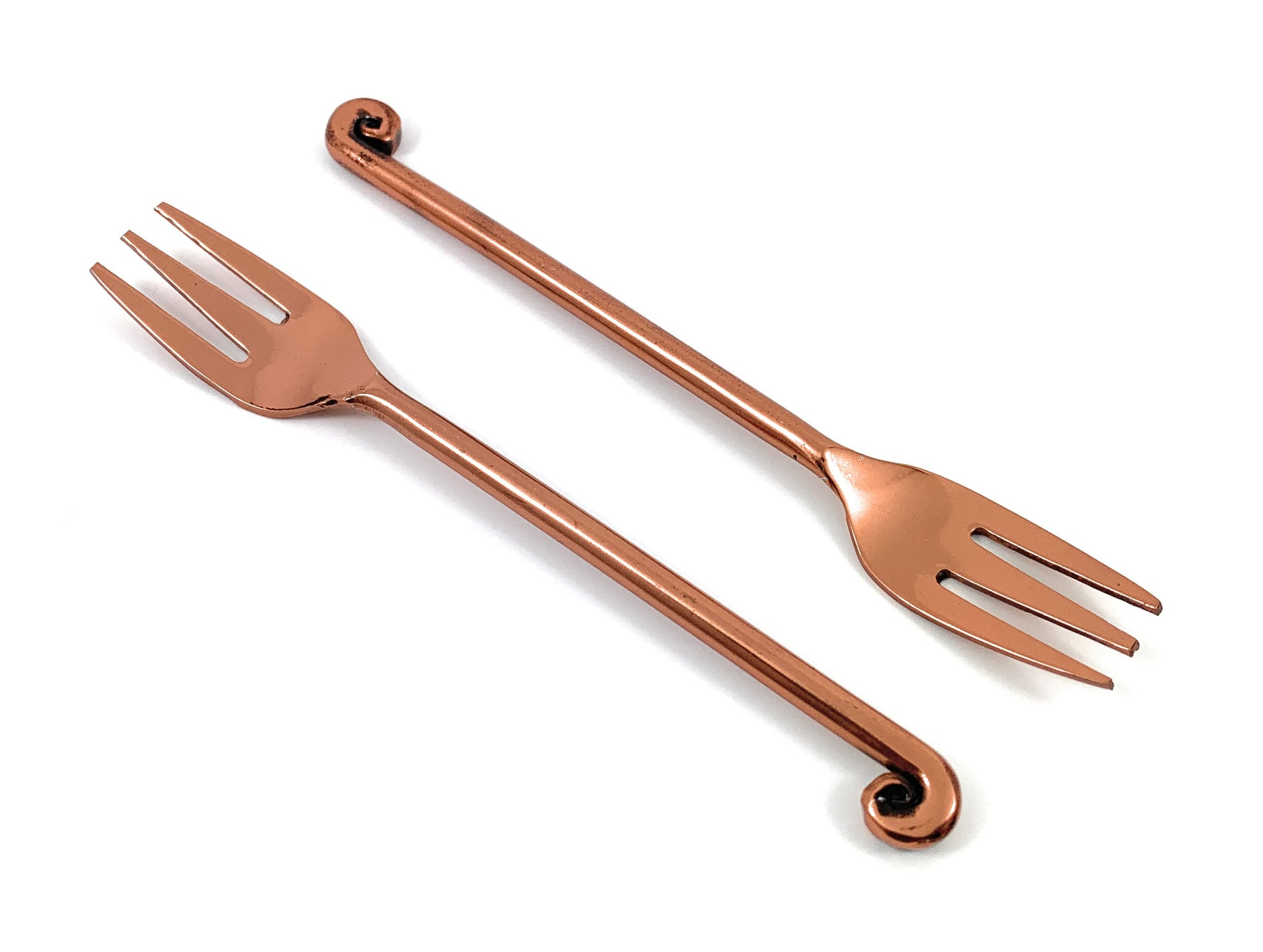 Geega Turtles Copper Fruit Fork Set of 6