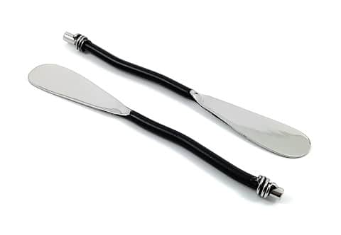 GeeGa Turtles Butter Knife Spreader (Black) Set of 4