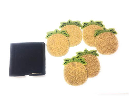 Beads Tea Coasters Set of 6 (Pineapple Shape)