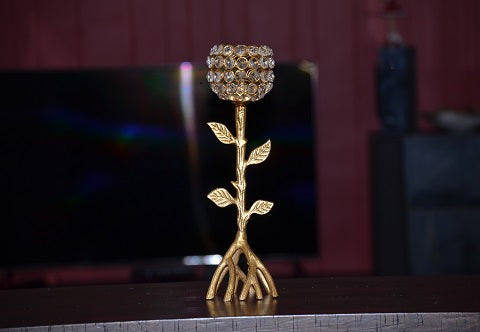 Golden Tree Hurricane Candle Holder - geega-home-decor