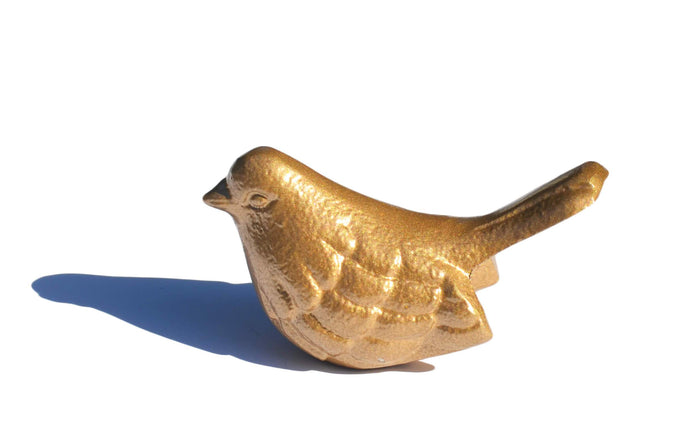 Golden Bird Figurine - geega-home-decor