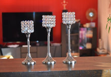 Load image into Gallery viewer, Crystal Candle holders - geega-home-decor