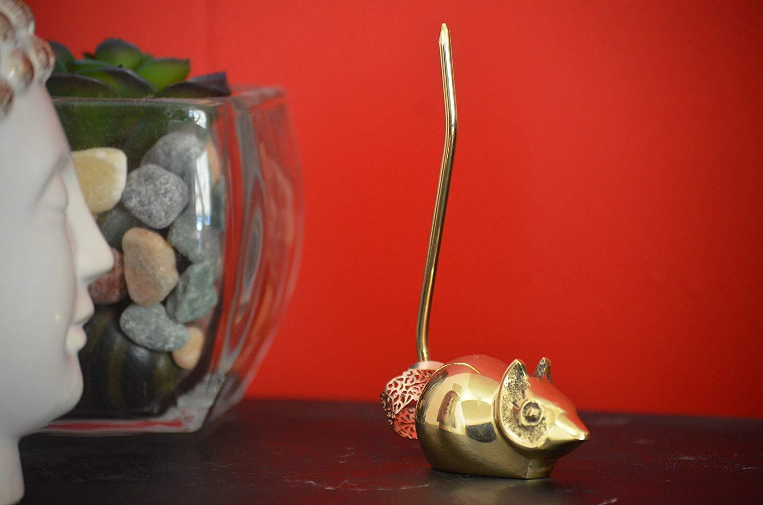 Golden Mouse Ring Holder - geega-home-decor