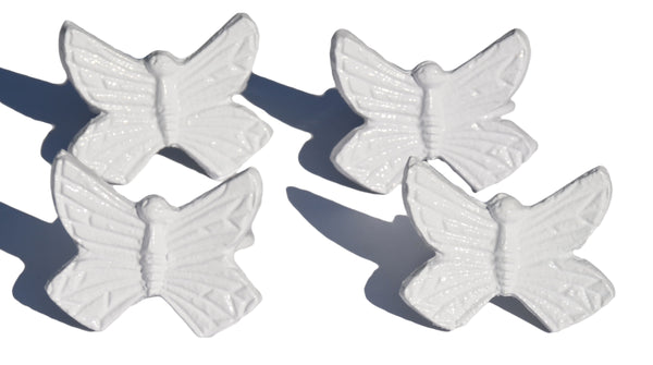 White Butterfly Napkin Rings - geega-home-decor