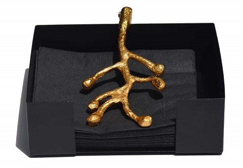 Golden Olive Bud Napkin Holder - geega-home-decor