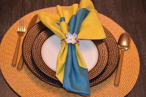 Flower Napkin Rings - geega-home-decor