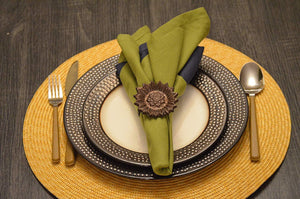 Sunflower Napkin Rings - geega-home-decor