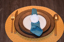 Load image into Gallery viewer, White Sunflower Napkin Rings - geega-home-decor