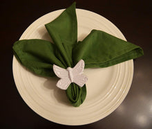Load image into Gallery viewer, White Butterfly Napkin Rings - geega-home-decor