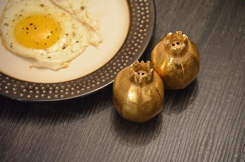 Golden Salt and Pepper Shakers